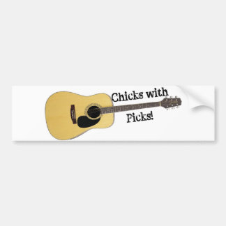 Chicks with Picks Car Bumper Sticker