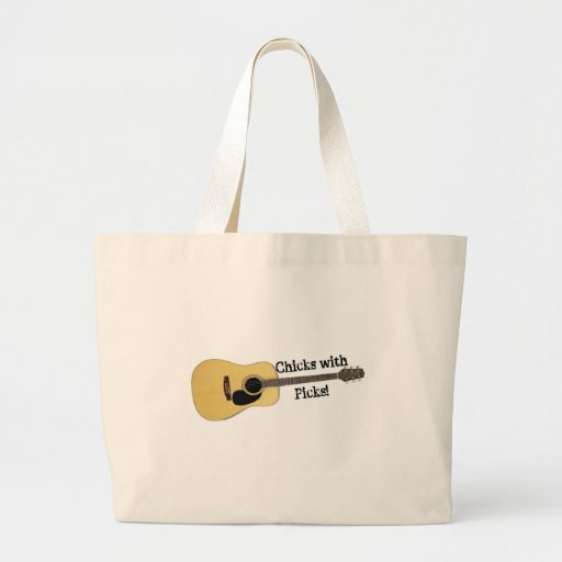 Chicks with Picks Tote Bags