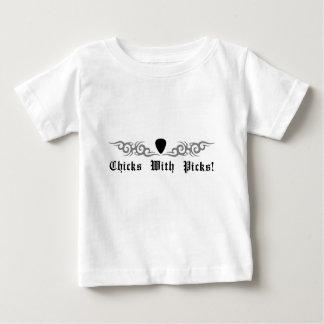 Chicks With Picks Tribal Design Baby T-Shirt