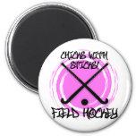 Chicks With Sticks - Field Hockey 2 Inch Round Magnet