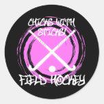Chicks With Sticks - Field Hockey Classic Round Sticker