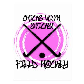 Chicks With Sticks - Field Hockey Postcard