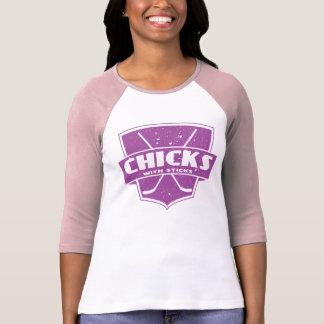 Chicks With Sticks Ice Hockey T-Shirt