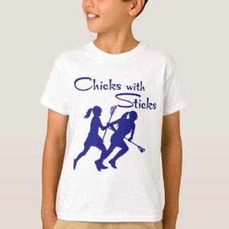 CHICKS WITH STICKS - LAX T-Shirt