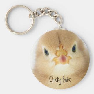 Chicky Babe Basic Round Button Keychain
