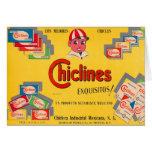 Chicle Chiclines México del kitsch retro del Tarjeta De Felicitación
