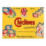 Chicle Chiclines México del kitsch retro del Postal