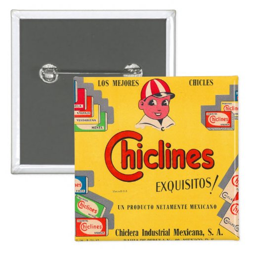 Chicle Chiclines México del kitsch retro del vinta Pin