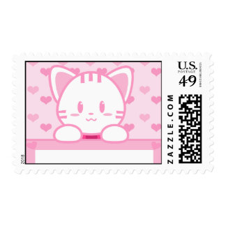 Chicle - franqueo del gatito estampilla