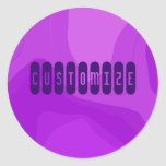 Chicle púrpura - plantilla pegatina redonda