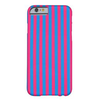 Chicle rosado y azul funda para iPhone 6 barely there