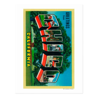 Chico, California - Large Letter Scenes Postcard