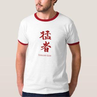 Chico duro en letras del kanji poleras