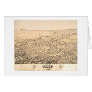 Chico, mapa panorámico 1871 (0272A) del CA Tarjeta De Felicitación
