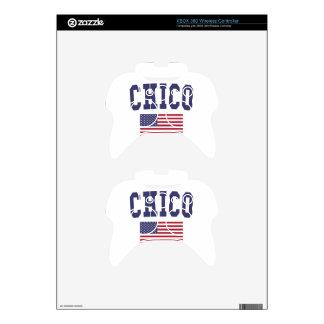 Chico US Flag Xbox 360 Controller Skin