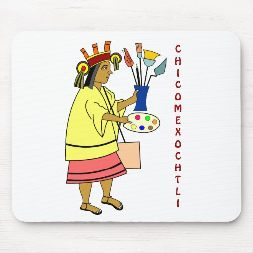 Chicomexochtli patron god of artists Mousepad