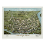 Chicopee, MA Panoramic Map - 1878 Poster