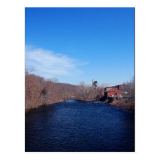 Chicopee River in Blue Postcard