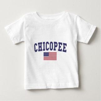 Chicopee US Flag Baby T-Shirt