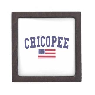 Chicopee US Flag Keepsake Box