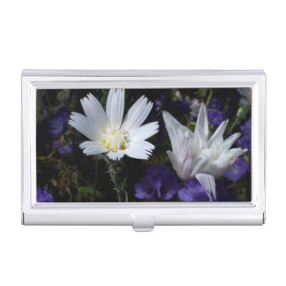 Chicory and Phacelia Wildflowers Case For Business Cards
