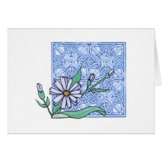 Chicory blossom, card
