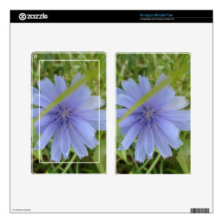 Chicory Blue Purple Flower Floral Skins For Kindle Fire