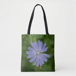 Chicory Blue Wildflower Floral Tote Bag