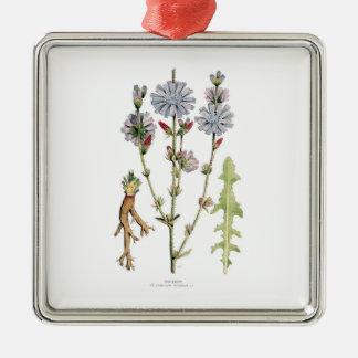 Chicory Vintage Botanical Metal Ornament