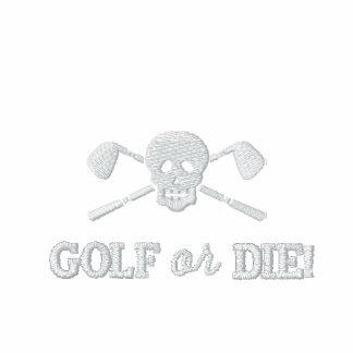 Chicos malos del cráneo del golf - el golf o muere camiseta polo