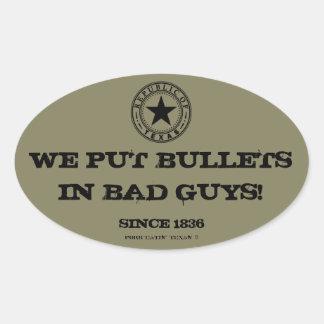 Chicos malos del lanzamiento de los Texans… No Pegatina Ovalada