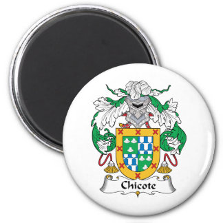 Chicote Family Crest 2 Inch Round Magnet
