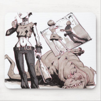 chics vs dinos vs zombies Mousepad