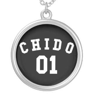 Chido 01 round pendant necklace