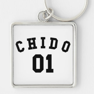 Chido 01 Silver-Colored square keychain