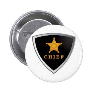 Chief badge 2 inch round button