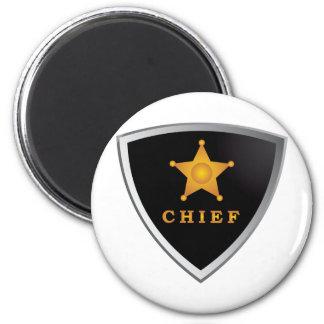 Chief badge 2 inch round magnet