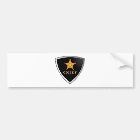 Chief badge bumper sticker