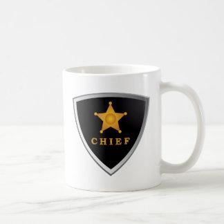 Chief badge classic white coffee mug