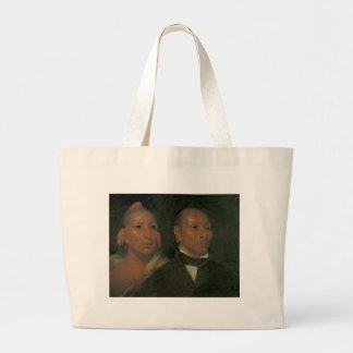 Chief Black Hawk and His Son Large Tote Bag