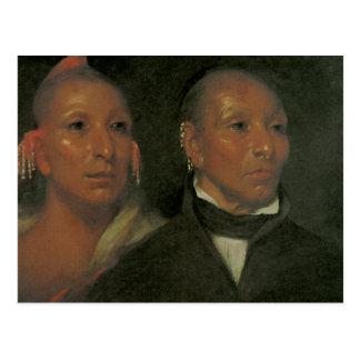 Chief Black Hawk and His Son Postcard