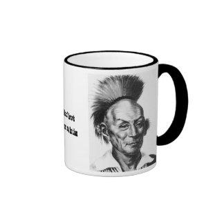 Chief Black Hawk Ringer Coffee Mug