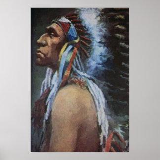 Chief Blackbird Omaha Native American Poster