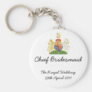 Chief Bridesmaid - Royal Wedding souvenir keychain