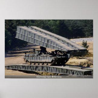 Chief bridge layer, British Army Poster