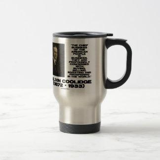 Chief Business Of American People Is Business Coffee Mug