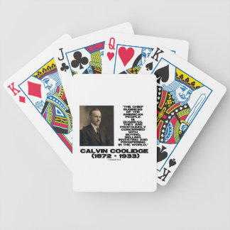 Chief Business Of American People Is Business Poker Deck
