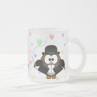 chief conductor frosted glass coffee mug