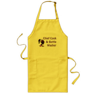 Chief Cook & Bottle Washer Cute Partner gift Apron