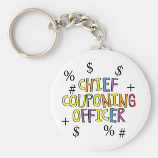 Chief Couponing Officer- www GrammarGumbo com Keychain